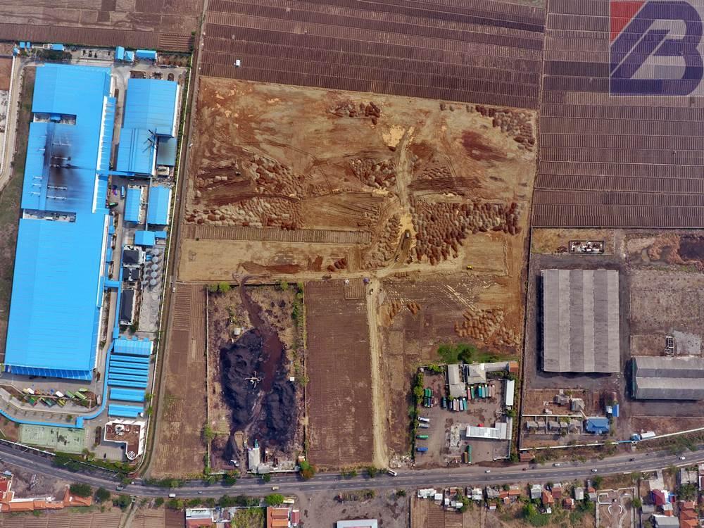 pematatangan tanah lahan pabrik cirebon